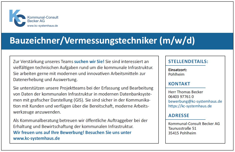 Bauzeichner / Vermessungstechniker